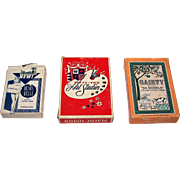 "3 Decks of Pin-Up Playing Cards, $10/ea.: (i) USPC ""Beaux Belle"", c.1950s; (ii) Novelties Mfg. &  Sales Corp. ""Fifty-Two Art Studies,"" c.1958; and (iii) Gaiety No. 202 ""54 Models,"" c. 1969"