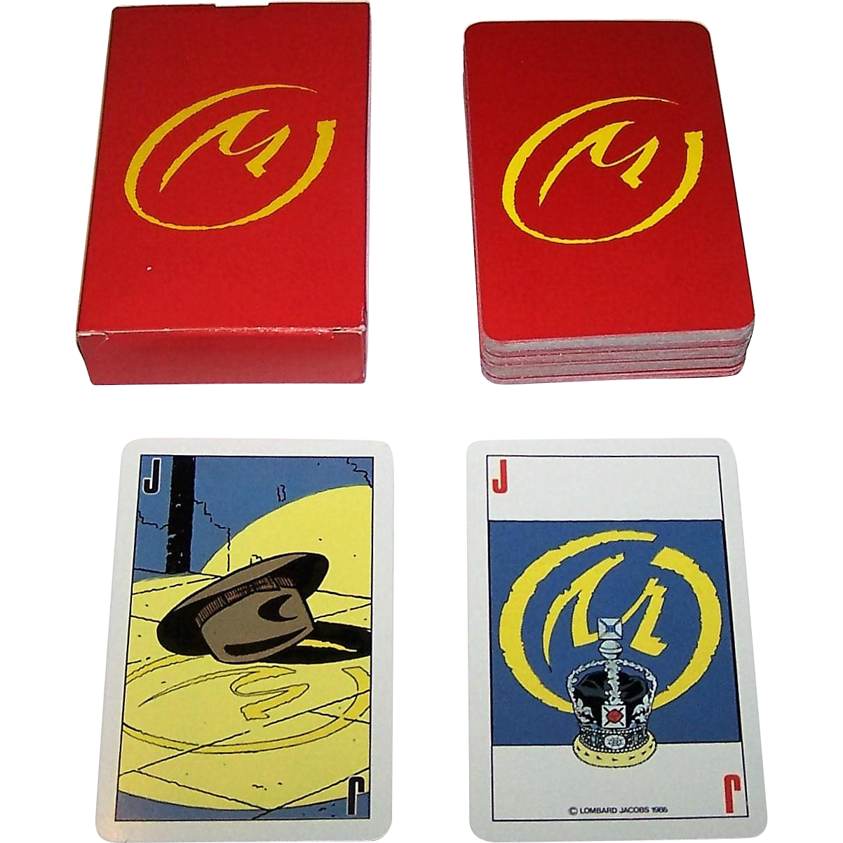 "Carta Mundi ""Blake and Mortimer"" Playing Cards, Edgar P. Jacobs Designs, c.1985"