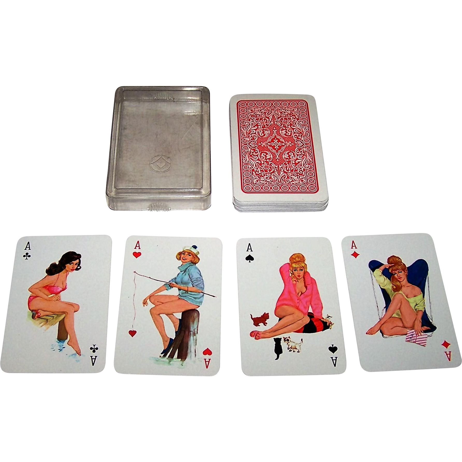 Fx Schmid Sexy Girls Jass Pin-Up Playing Cards, C1964 From Twoforhisheels On -2759