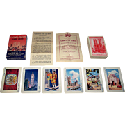 "Waddington ""Crown the Queen"" Card Game, Coronation of Queen Elizabeth, Elaine Burton Inventor, c.1953"