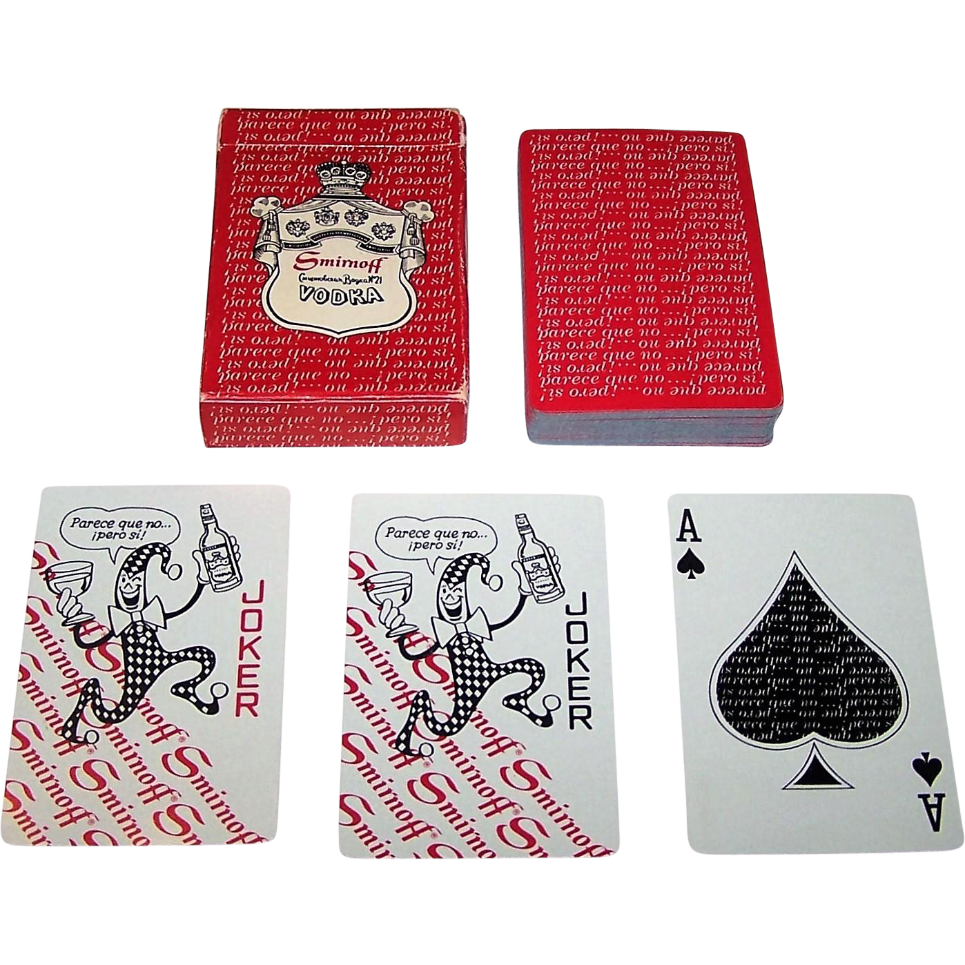 "Heublein, Inc. ""Smirnoff"" Advertising Playing Cards, Maker Unknown, Cuban Television Stars, c.1973"