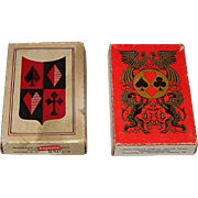 "2 Russia State Printing Works 52-Card Decks of Playing Cards, $15/ea., c.1971: (i) ""Theatre"" Cards, V.M. Sveshnikov Designs (52/52; NJ); (ii) ""Traditional Russian"" Cards"