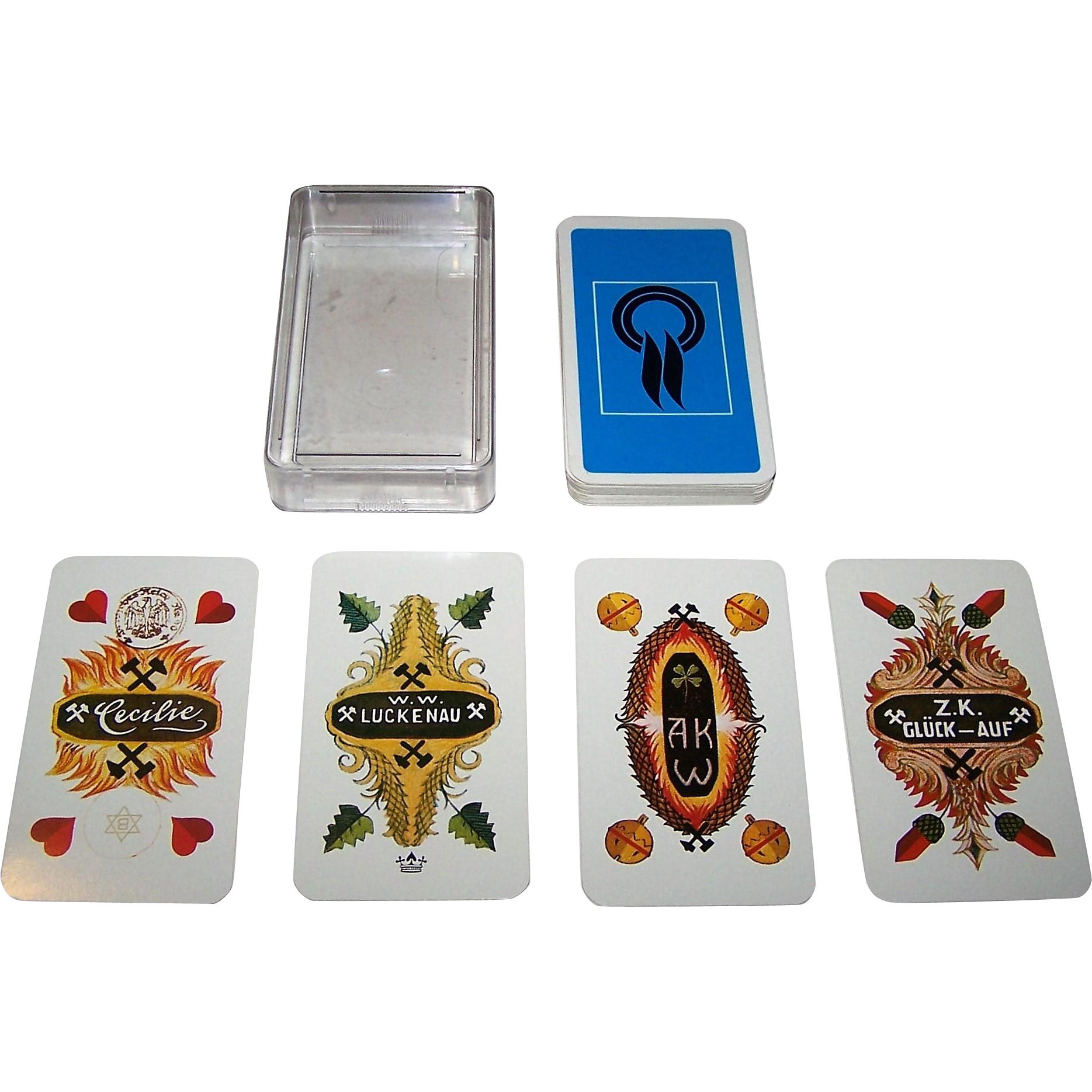 "Bielefelder ""German Mining Industry"" Skat Playing Cards, c.1975 [Recent Edition of VSSF Deck, c.1925]"