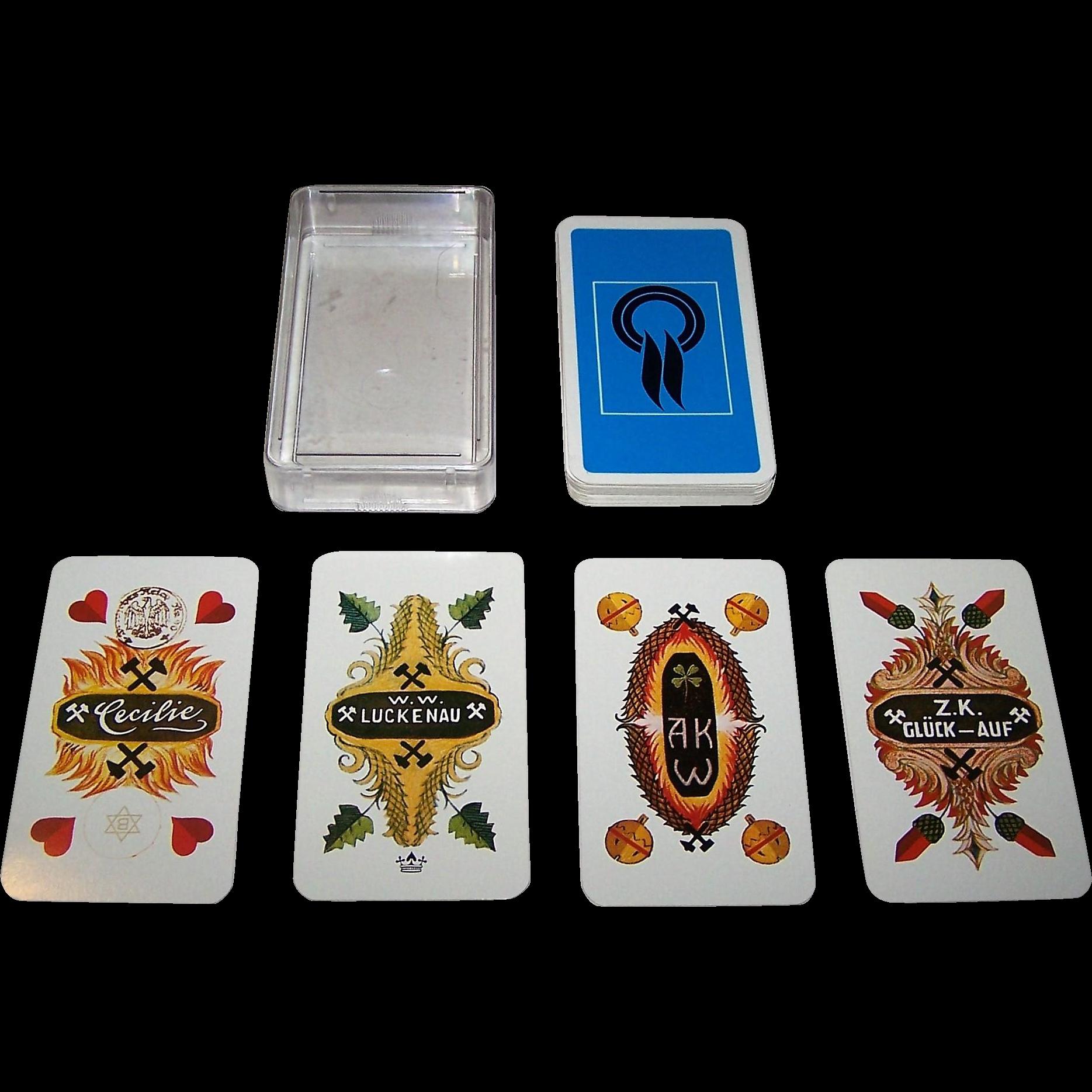 "Bielefelder ""German Mining Industry"" Skat Playing Cards, c.1975 [Recent Edition of VSSF Deck, c.1925]"