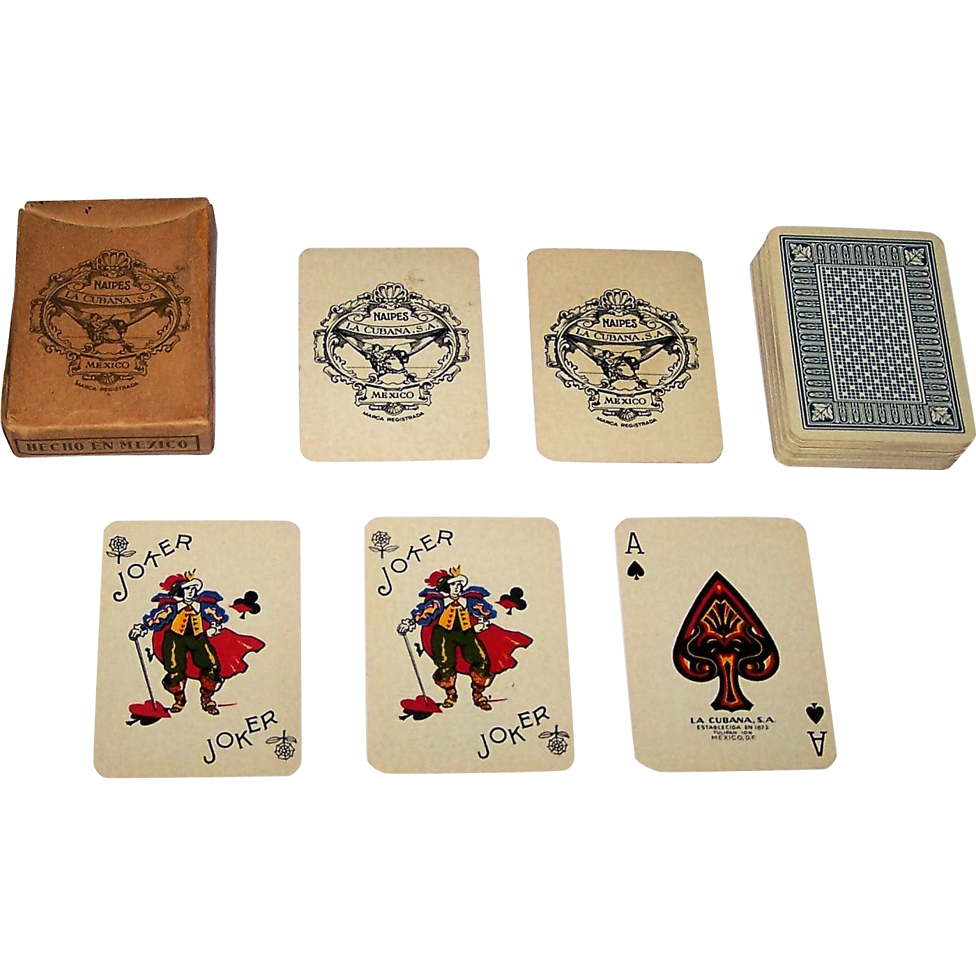 "La Cubana ""Mignon Extra Poker"" Patience Playing Cards, 1950s (?)"