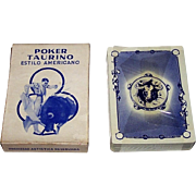 "Clemente Jacques ""Poker Taurino"" Playing Cards, Carlos Ruano Llopis Designs, c.1950s"