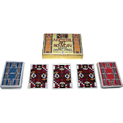 "Double Deck Piatnik ""Jugendstil Art Nouveau"" Playing Cards, Ditha Moser Designs, c.1980"