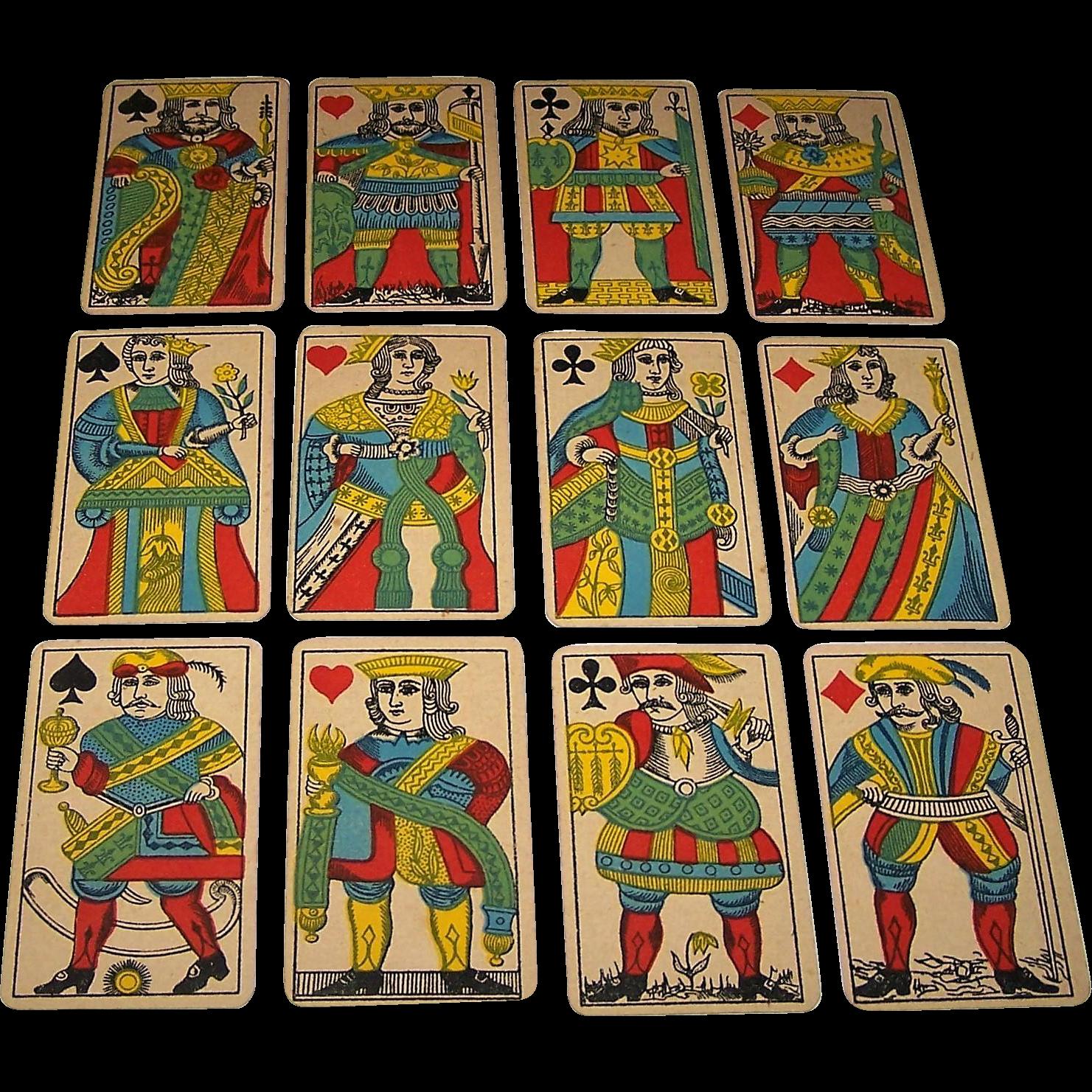 """Van Genechten """"Luiks Beeld"""" Playing Cards, c.1869"""