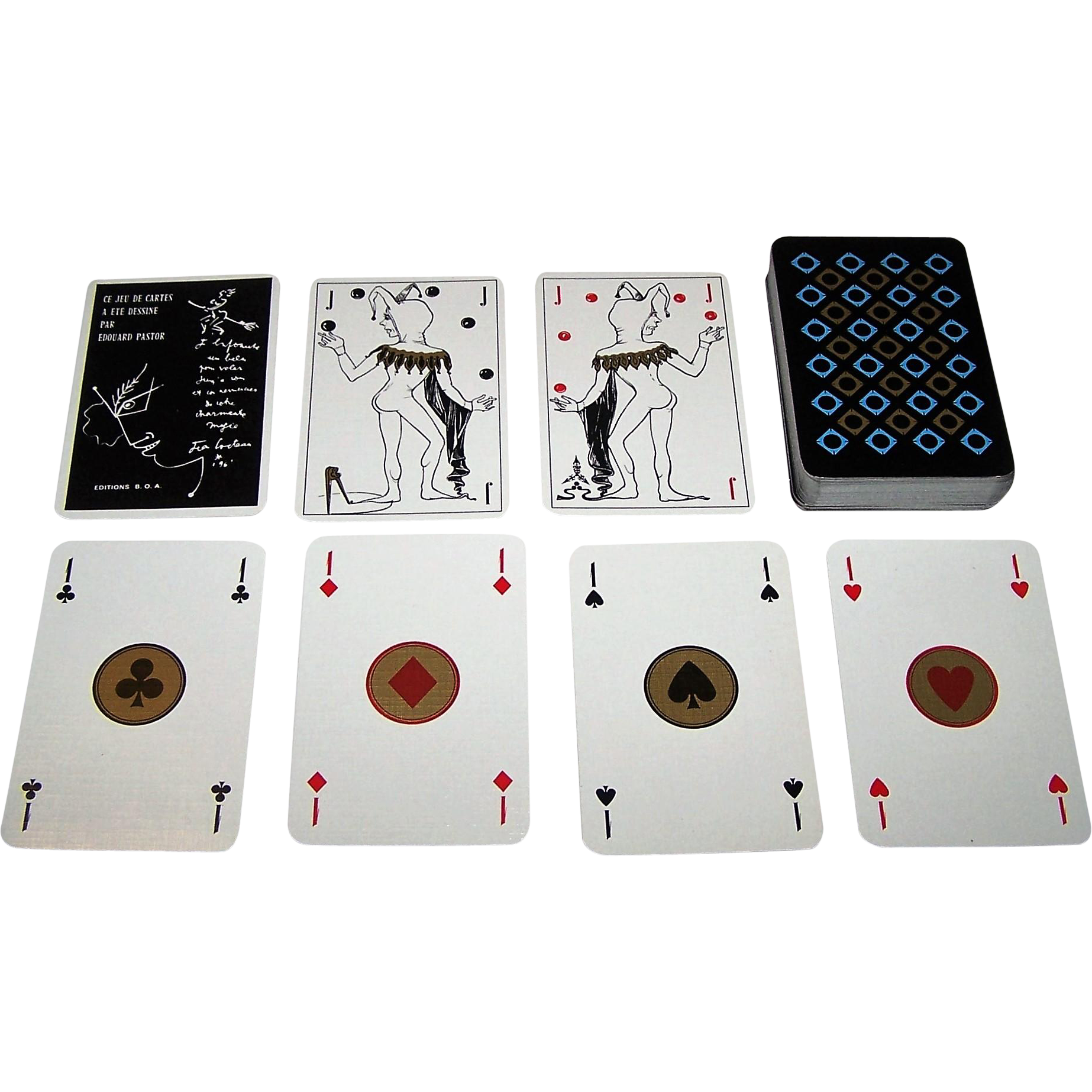 "Editions B.O.A. ""Edouard Pastor"" Playing Cards, c.1970s"