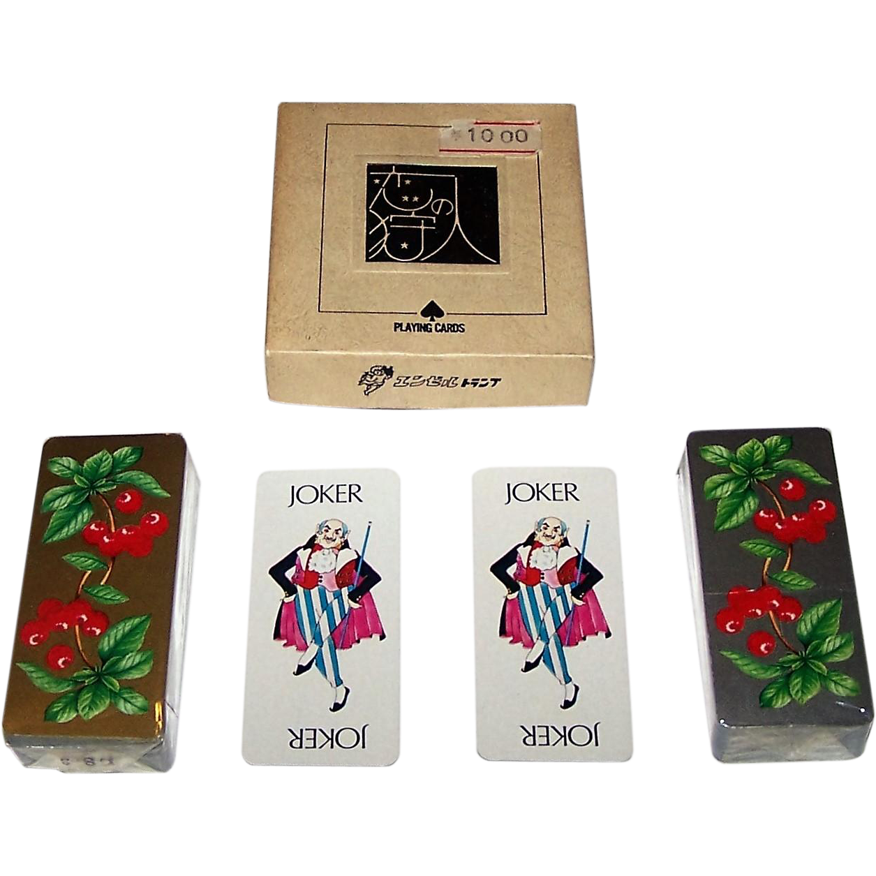 "Double Deck Angel ""Roaring 20's"" Oblong Patience Playing Cards, c.1980"