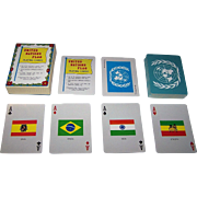 """Merrimack """"United Nations Flags"""" Playing Cards, c.1980s"""