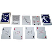 "Women's Institute for Research and Education for the Deaf (""WIRED"") ""WIRED for Sound"" Playing Cards, Sign Language Cards, c.1980s"