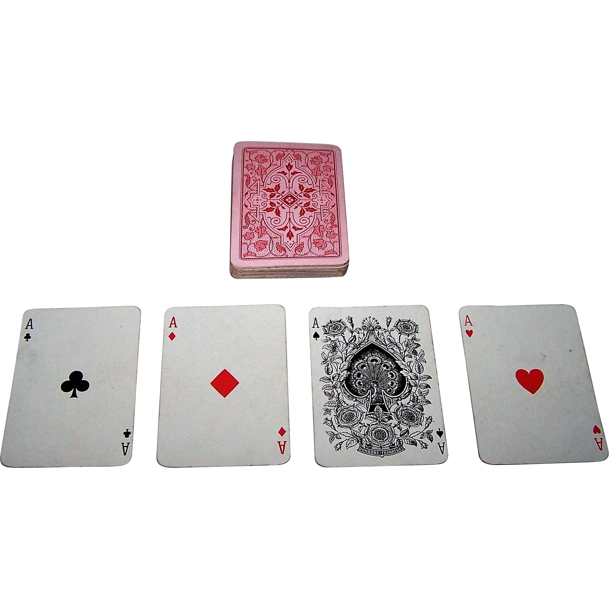 "Dondorf ""Poker"" Playing Cards, Standard English Pattern, 32-Card Deck, c.1910"