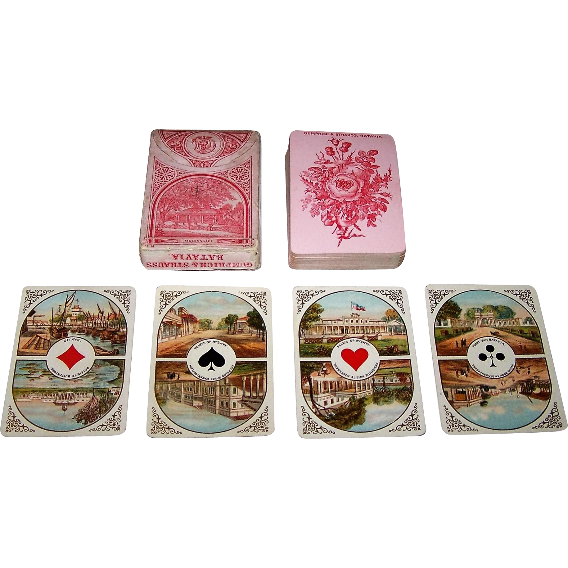 "Dondorf No. 17 ""Java Speelkaarten"" Playing Cards, Gumprich & Strauss Variant 2, c.1879"
