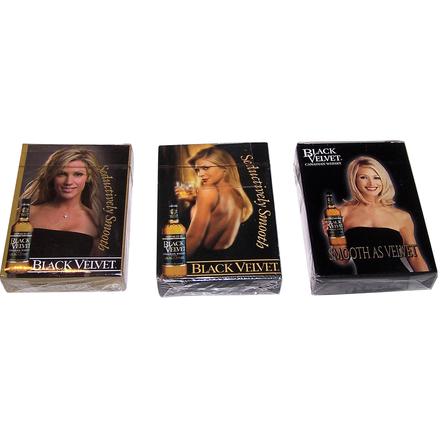"3 Decks ""Black Velvet"" Pin-Up Playing Cards, $10/ea."