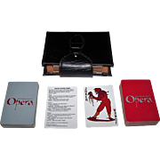 "Double Deck San Francisco Opera ""Opera"" Playing Cards, Maker Unknown, Patricia Zipprodt Designs, Amity Patent Leather Case, c.1980"