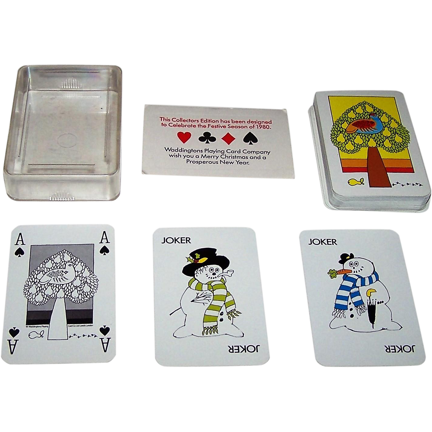 "Waddingtons ""Christmas 1980"" Playing Cards, ASS Maker, c.1980"