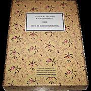 """Piatnik """"Loschenkohl Musicalisches Kartenspiel,"""" 20th Century Edition of Loschenkohl 1806 Deck, c.1981"""