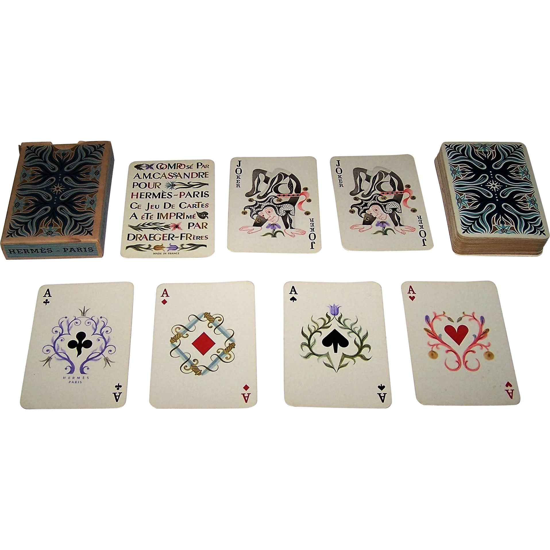 "Draeger-Freres ""Hermes"" Playing Cards, Cassandre Designs, Second Edition, c.1950"
