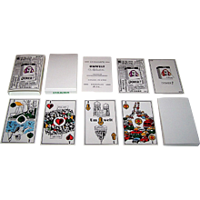 "Siegfried Heilmeier ""Umwelt"" (""Environmental"") Skat Playing Cards, Hand Colored, Ltd. Ed. (38/170), c.1986"