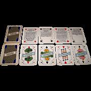 """Piatnik """"Versprochen Und Gehalten"""" (""""Promised and Kept"""") Schnapsen Playing Cards, Austrian Socialist Party, c.1975"""