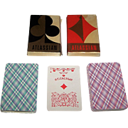 "Twin Decks Russia State Printing Works ""Atlassian"" Playing Cards, 36-Card Decks, c. 1980s, $15/ea"