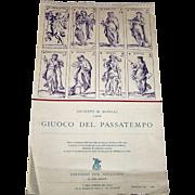 """Editioni del Solleone """"Giuoco del Passatempo"""" 1980 Calendar, Giuseppe M. Mitelli Designs [1690], Ltd. Ed. 452/500, c.1979"""