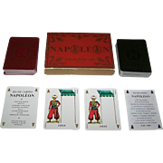 "Double Deck Grimaud ""Napoléon"" Playing Cards, 200th Anniversary of Napoleon's Birth, Mantéja Designs, c.1969"