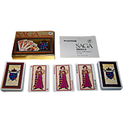 "Double Deck Piatnik ""Saga"" Playing Cards, Atelier Korecky Designs, c.1978"