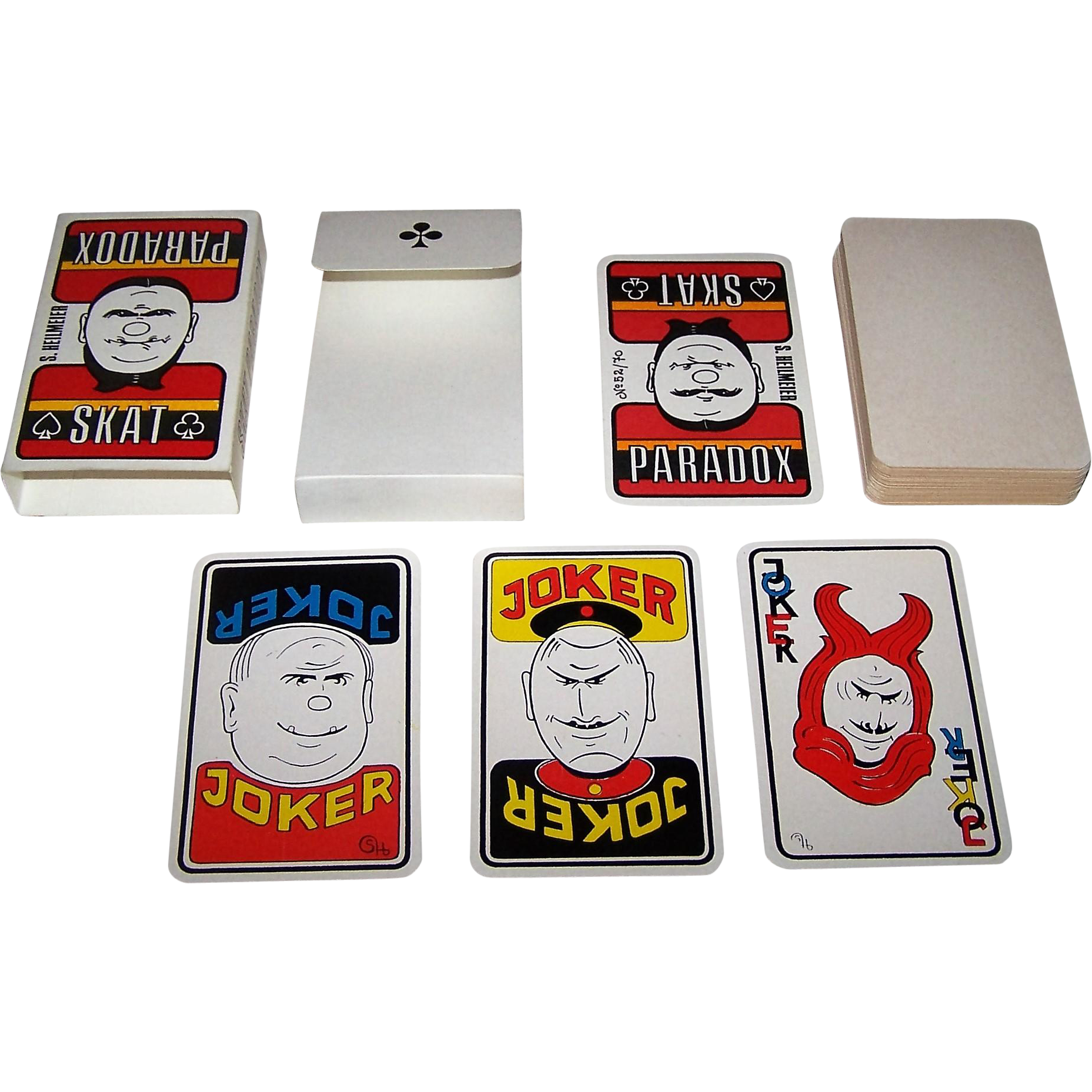 "Siegfried Heilmeier ""Skat Paradox"" Skat Playing Cards, Ltd. Ed. (52/70), c.1991"