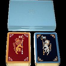 """Double Deck De La Rue """"Lion and Unicorn"""" Playing Cards, c.1958"""