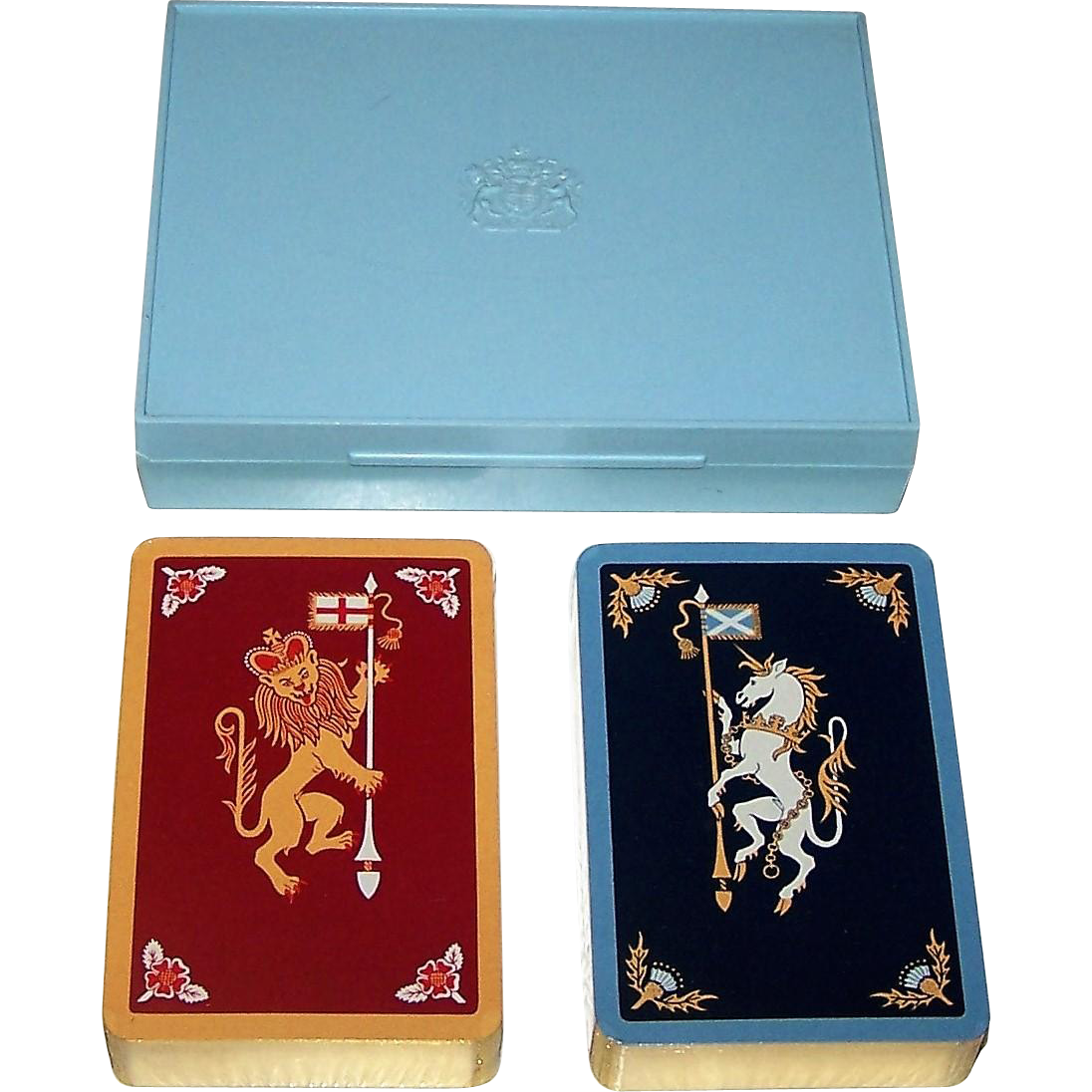 "Double Deck De La Rue ""Lion and Unicorn"" Playing Cards, c.1958"