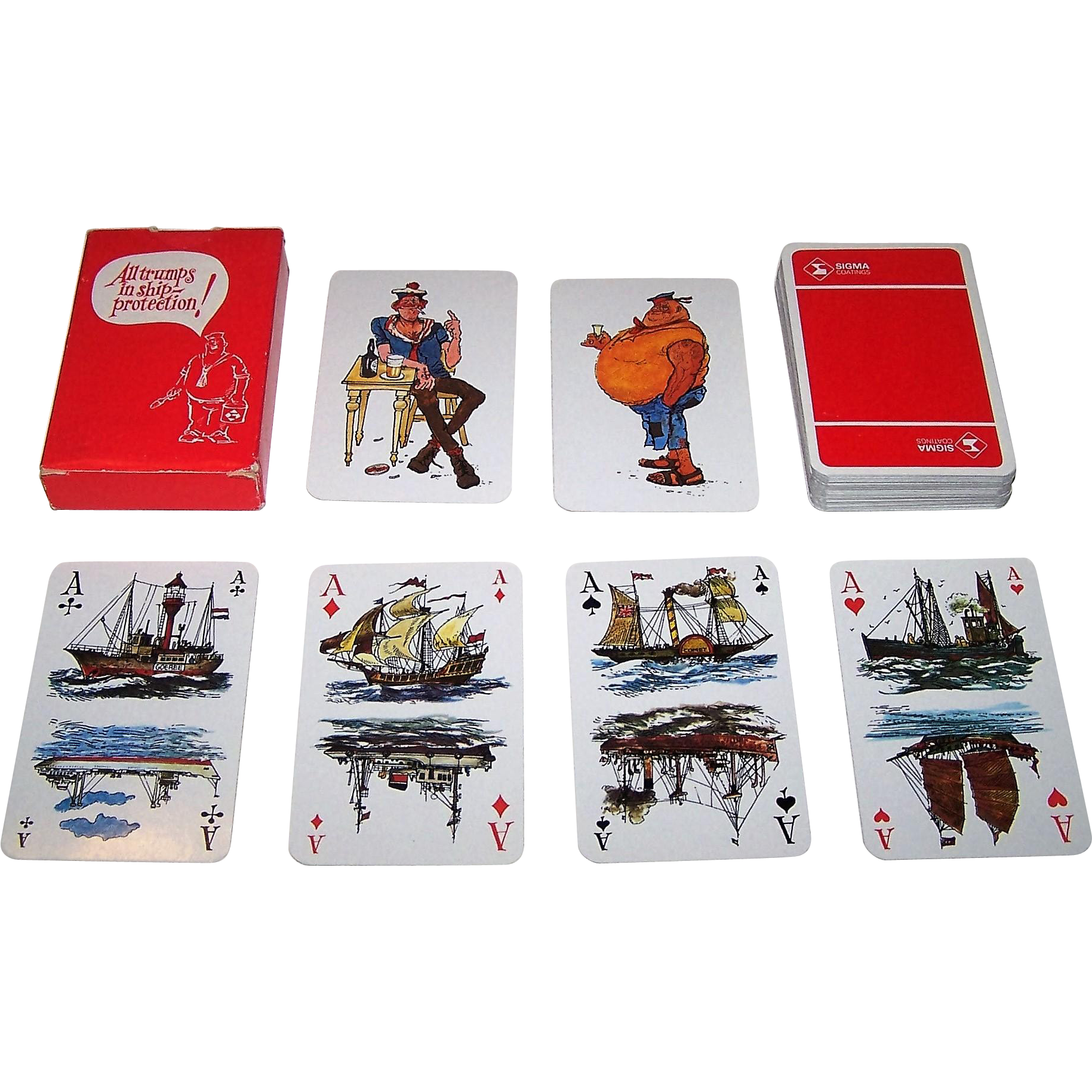 "Carta Mundi ""Sigma Coatings"" Playing Cards, Jan Sanders Designs, c.1980"