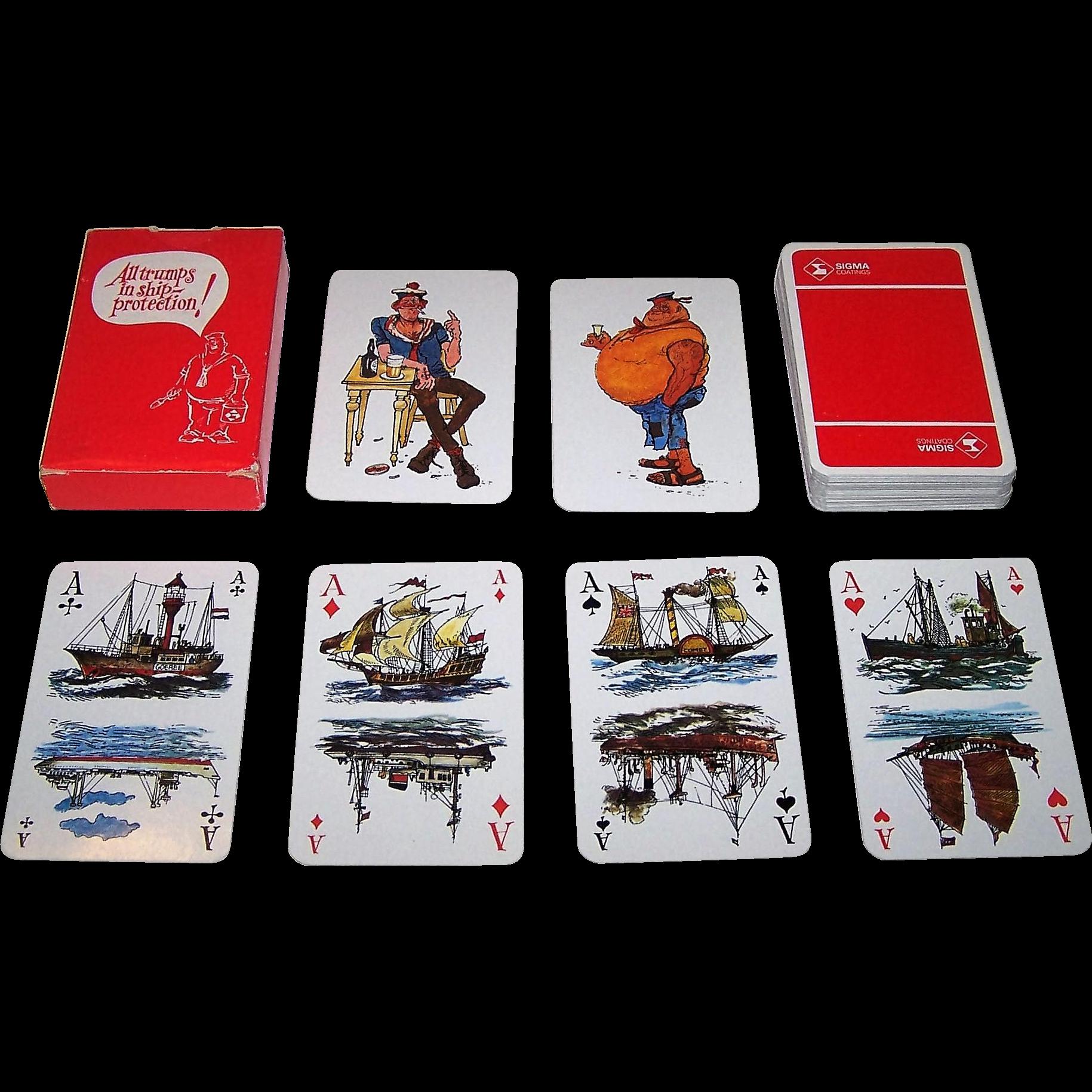 "Carta Mundi ""Sigma Coatings"" Playing Cards, Jan Sanders Designs, c.1980"