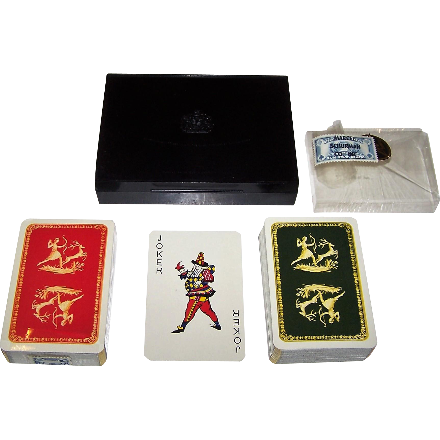 "Double Deck Van Genechten ""Diana the Huntress"" Playing Cards, Marcel Schurman Co., Inc., c.1950s"