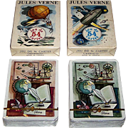 "Twin Decks Grimaud ""Jules Verne"" Playing Cards, Jean Bruneau Designs, c.1978, $15/ea."