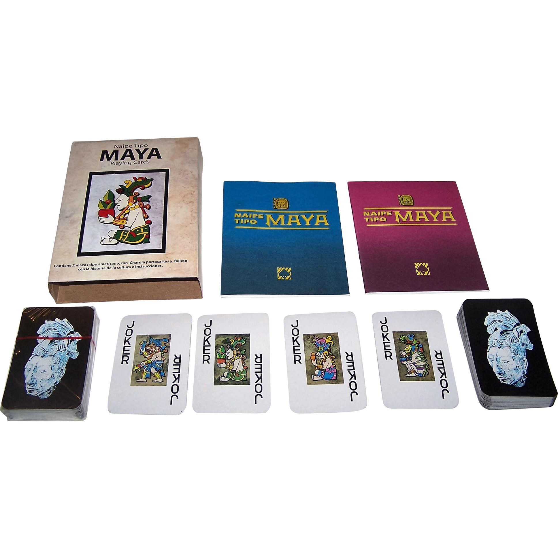 "Double Deck Pronaco S.A. de C.V. ""Naipe Tipo Maya"" Playing Cards, c.1991"