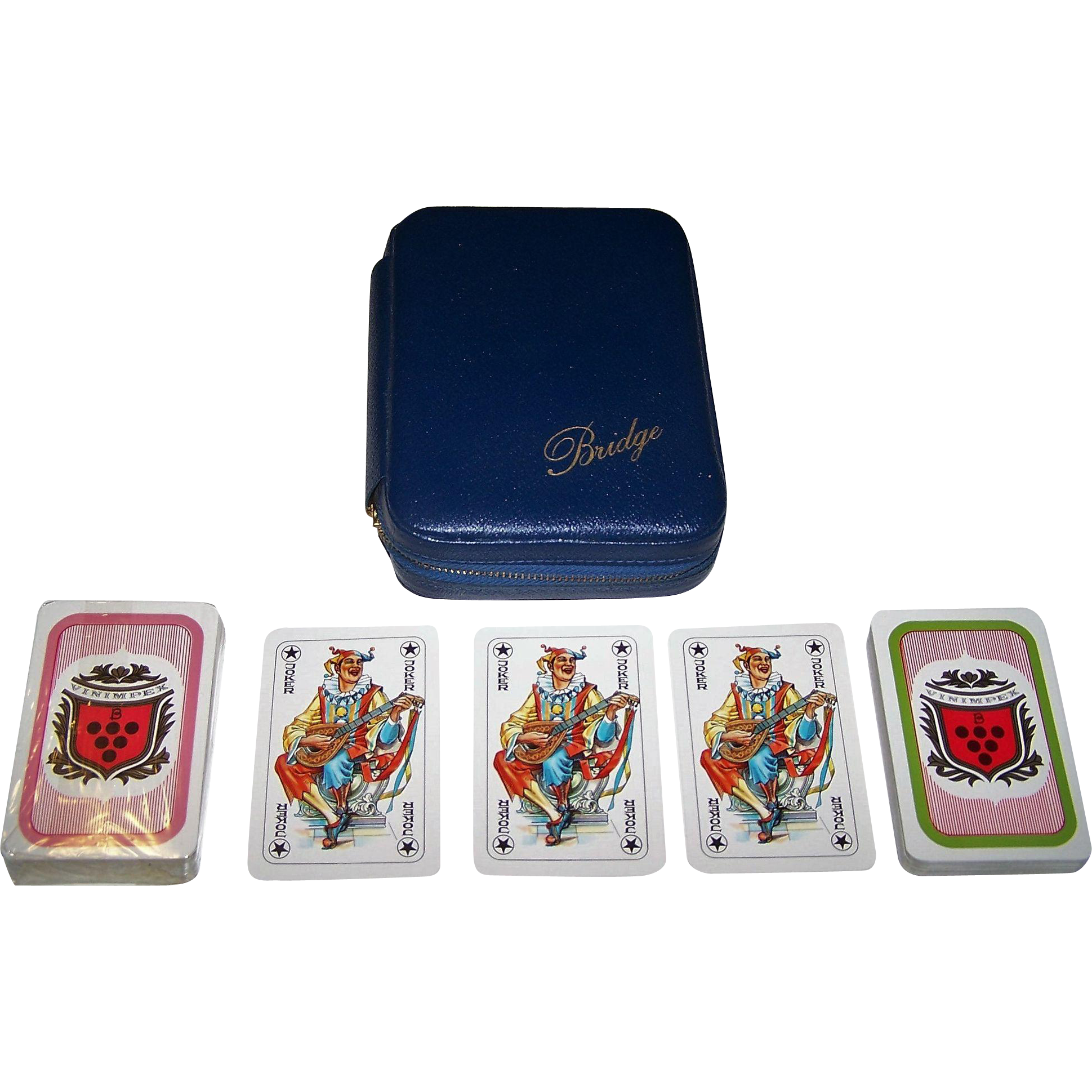 "Double Deck Coeur ""Vinimpex"" Playing Cards Bridge Set, c.1982"