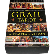 "St. Martin's Press ""The Grail Tarot: A Templar Vision"" Tarot Cards w/ Book, John Matthews Conception, Giovanni Caselli Designs"