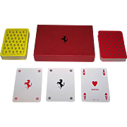 "Double Deck Modiano ""Ferrari"" Playing Cards"