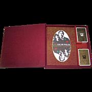 "Special Limited Edition Double Deck Grimaud ""Oscar Wilde"" Playing Cards, w/ Accompanying Book, Elegant Packaging, Presage International Publisher, Richard Ellman Conception, R. Fanto Artwork, 1986"