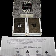 "Double Deck Grimaud ""Oscar Wilde"" Playing Cards, Presage International Publisher, Richard Ellman Conception, R. Fanto Artwork, 1986"