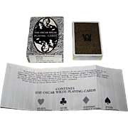 "Grimaud ""Oscar Wilde"" Playing Cards, Presage International Publisher, Richard Ellman Conception, R. Fanto Artwork, 1986"