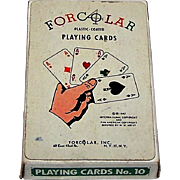 """Arrco Playing Card Co. """"Forcolar"""" Playing Cards, Forcolar, Inc. Publisher, No Revoke Deck, c.1945"""