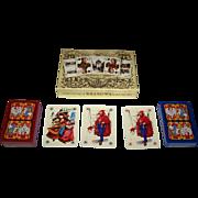 "Double Deck KZWP-Trefl ""Jagiellonskie"" Playing Cards, Jan Matejko Paintings, Maria Orowska-Gabry Designs, c.1990"