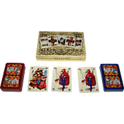"Double Deck KZWP-Trefl ""Jagiellonskie"" Playing Cards, Jan Matejko Paintings, Maria Orowska-Gabry Designs, c.1990"
