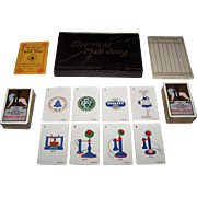 "De La Rue ""Electrical Mah Jong"" Set, Made for Western Electric Co., Ltd., 1924 British Exhibition Souvenir, c.1924"