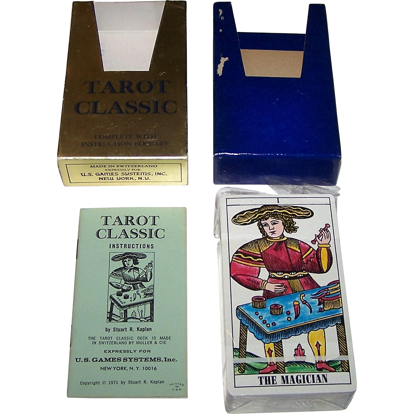 "AG Muller ""Tarot Classic"" Tarot Cards, U.S. Games Systems Publisher, c.1971"