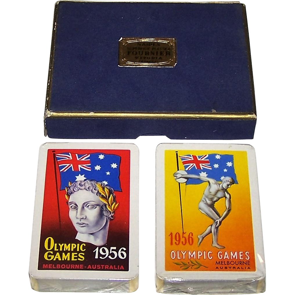 "Double Deck Fournier ""Melbourne Olympics"" Playing Cards, c.1956"