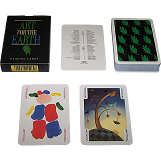 """Carta Mundi """"Art for the Earth"""" Transformation Playing Cards, Andrew Jones Art and Friends of the Earth Publishers, 54 Different Artists, c.1992"""